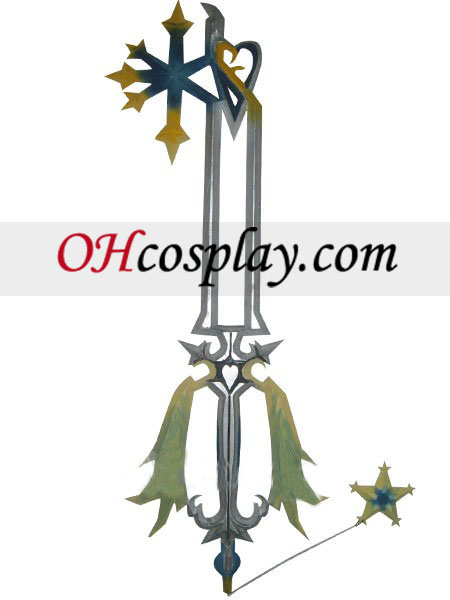 Kingdom Hearts Oathkeeper puun Cosplay ase