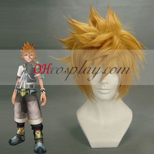 Kingdom Hearts Roxas Yellow Cosplay peruk