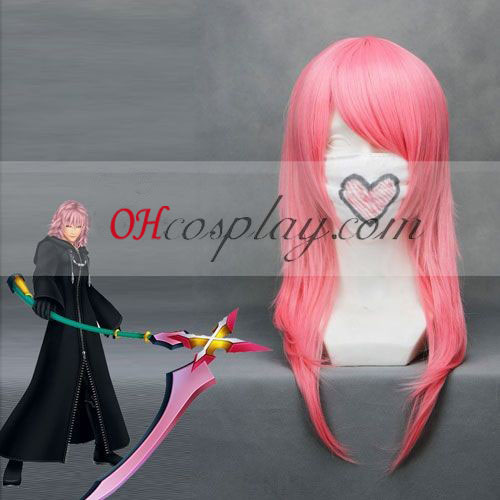 Kingdom Hearts Marluxia Pink Cosplay peruk