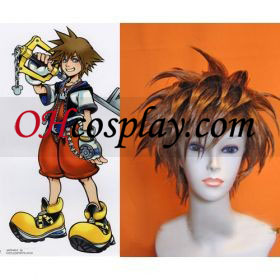 Kingdom Hearts II Sora Cosplay peruukki