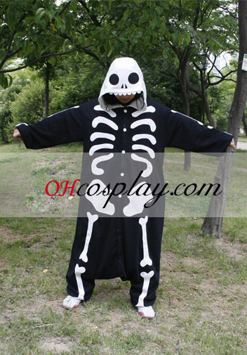 Kostra človeka Kigurumi kroj pyžamy