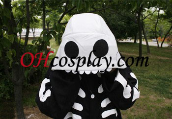 Човешки скелет Kigurumi костюм пижами