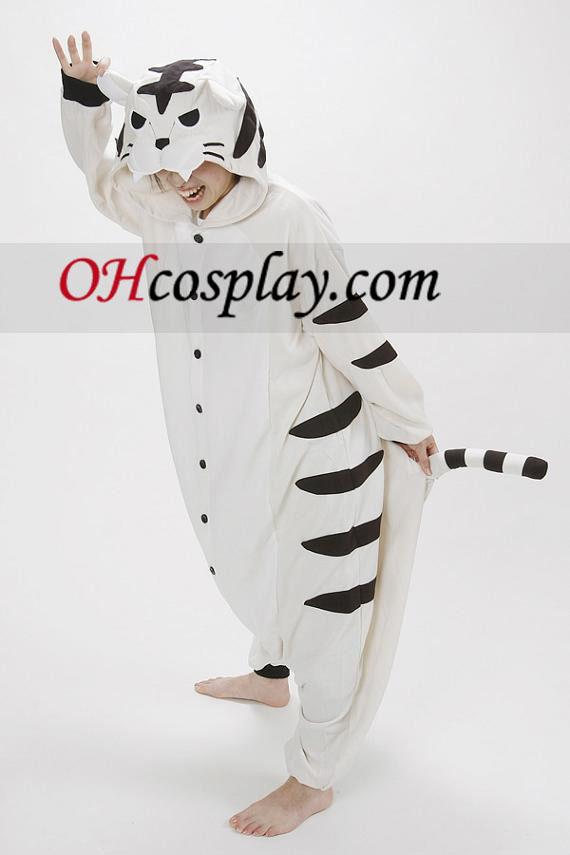Бял Tiger Kigurumi костюм пижамиХелоуин костюм купи онлайн магазин на България