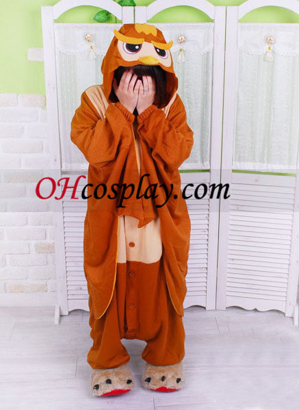 Сладки улулица Kigurumi костюм пижами