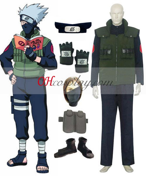 Naruto Hatake Kakashi Deluxe Men's Cosplay Costume Australia and Accessories Set