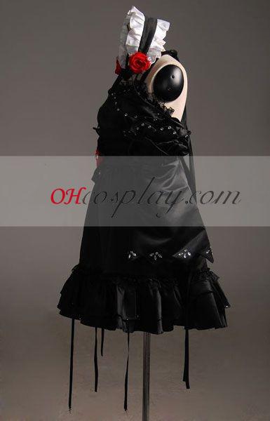 Vocaloid Miku Късата разкроена рокля Cosplay Costume-Advanced по избор