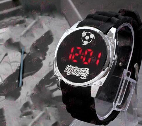 Naruto three hook jade logo LED touch screen watch