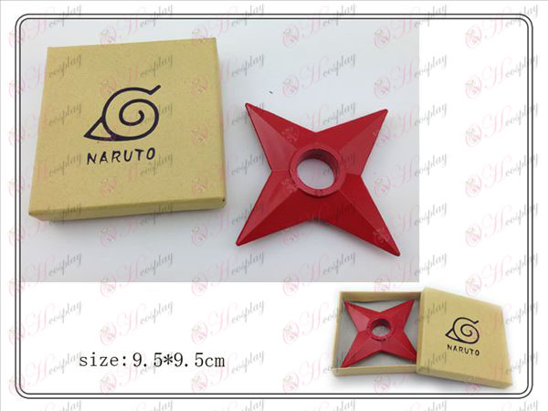 Naruto Shuriken klassiska förpackad (röd) plast