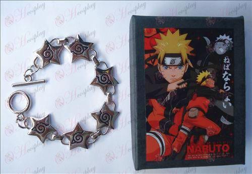 Naruto Konoha bracelet pentagramme (encadré)