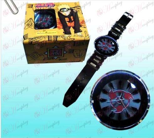 Naruto Sasuke napísať okrúhle oči čierne hodinky