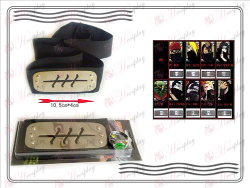 En generation av Naruto Xiao Organisation ring + Headband (tre)