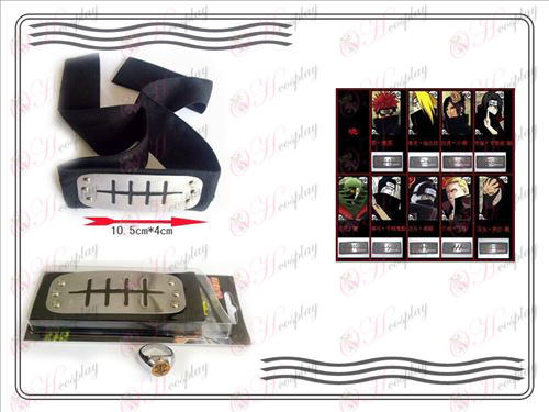 En generation av Naruto Xiao Organisation ring + Headband (Payne)