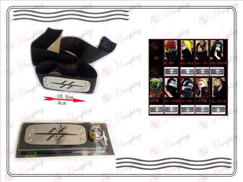 En generation av Naruto Xiao Organisation ring + Headband (rebel dimma)