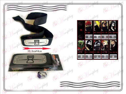 En generation av Naruto Xiao Organisation ring + Headband (rebel sand)