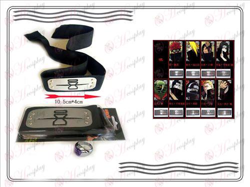 A generation of Naruto Xiao Organization ring + Headband (rebel sand)