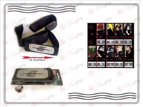 A generation of Naruto Xiao Organization ring + Headband (rebel forbearance)