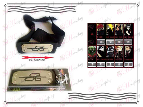 En generation av Naruto Xiao Organisation ring + Headband (vit)