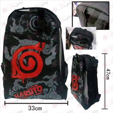 15-157 Backpack 09 # Naruto logotipo konoha