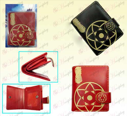 Naruto Sasuke kalejdoskop tvåfärgade läder plånbok (a)