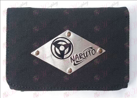 Naruto write round eyes White canvas wallet