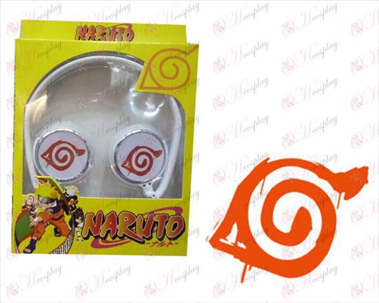 Folding Headphones Stereo headset - Naruto konoha mark