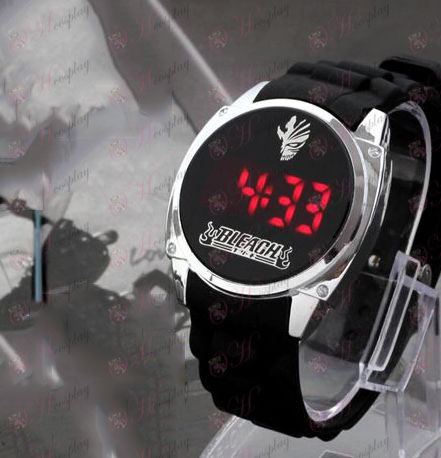 Acessórios Bleach quebrados marcas na superfície LED relógio da tela de toque