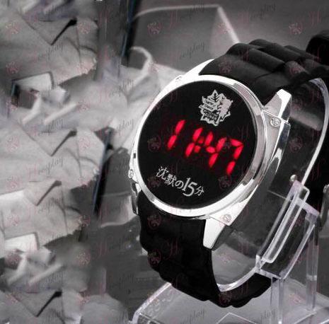 Detective Conan Accessories15 Anniversary Logo LED relógio da tela de toque
