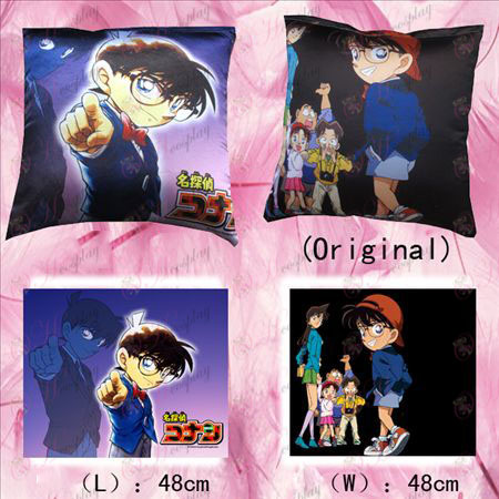 102 # full-color square pillow (Conan and children)