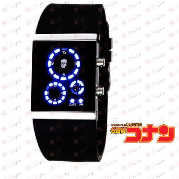 Detective Conan Аксесоари LED часовник корейската версия на черен флаг