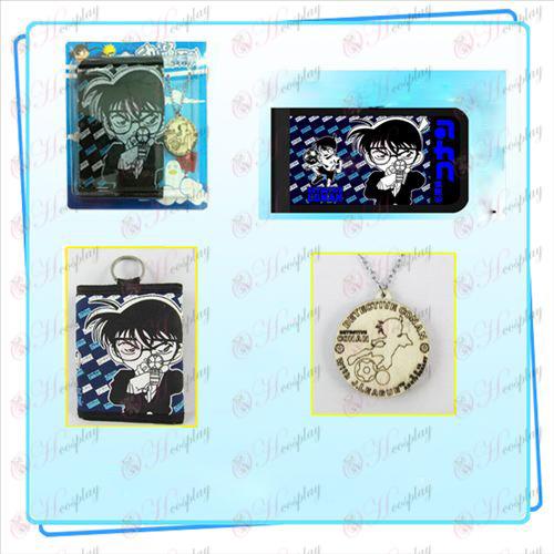 Conan colar dobra carteira combinação (distribuição aleatória colar)