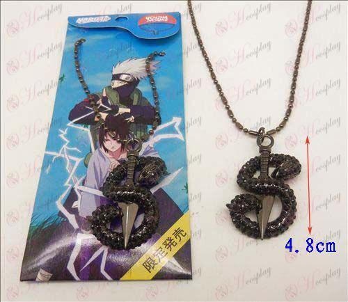 Наруто Shuriken пластины ожерелья змейки