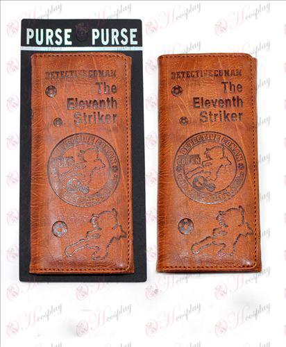 Lange vouw portemonnee reliëf lederen (Conan 16 jarig bestaan)