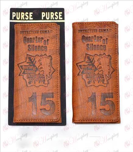 Lang fold pung præget læder (Conan 15 års jubilæum)