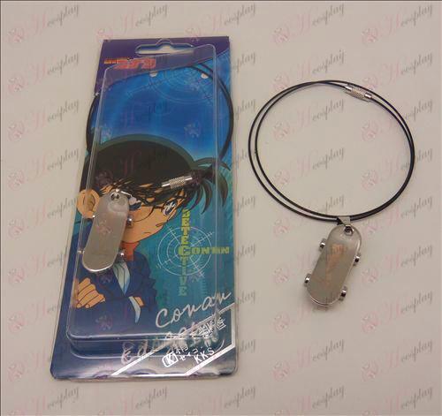 D Conan figure skate necklace (wire)