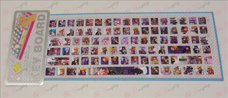 PVC keyboard stickers (Night Concerto)