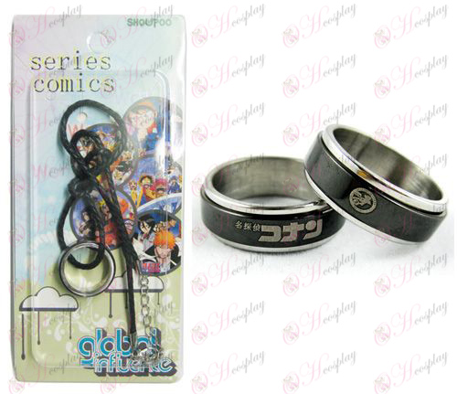 Conan 16 anniversary black steel transporter rings necklaces - Rope