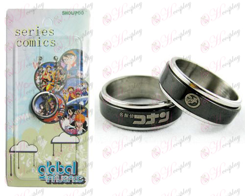 Conan 16 anniversary black steel transporter Ring
