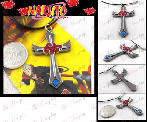 Naruto Red Cloud Necklace gun color