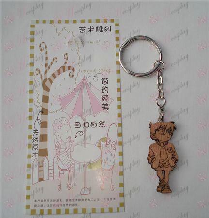 Conan träsnideri nyckelring (Aa)
