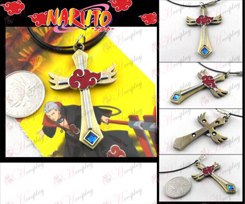 Naruto Red Cloud necklace bronze
