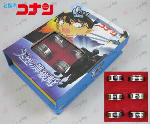 Conan 15th anniversary black steel transporter Ring Set (6)