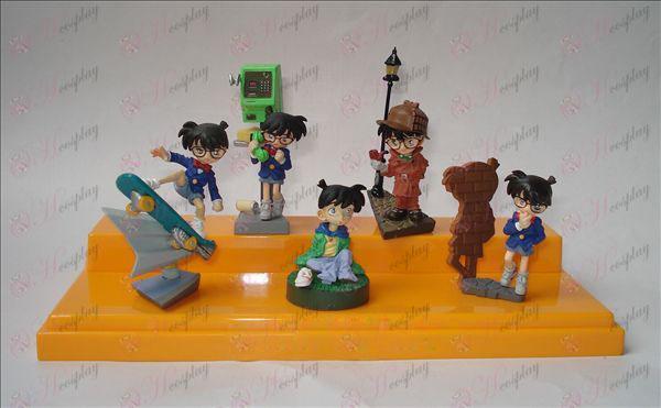 Genuine 5 models Conan doll scene