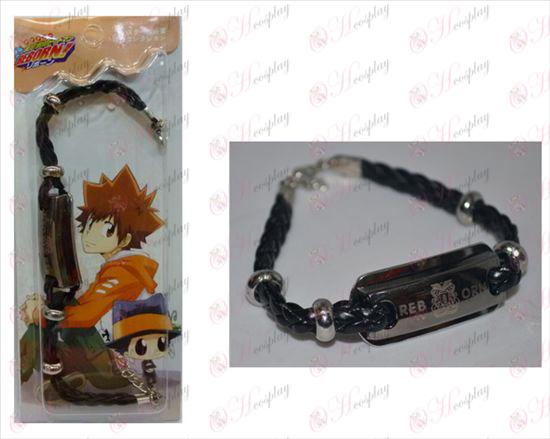 Reborn! Accessories shuangpai leather bracelet