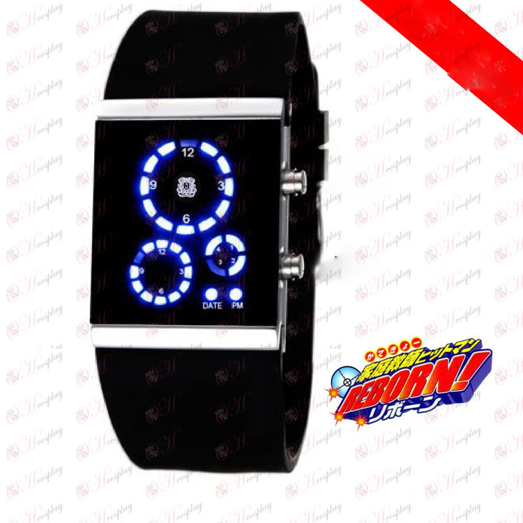 Reborn! Accessories Vongola korean LED watches black flag
