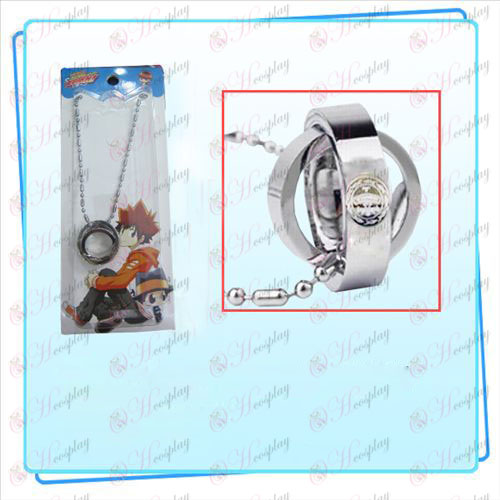 Reborn! Accessories big empty double ring necklace (card)