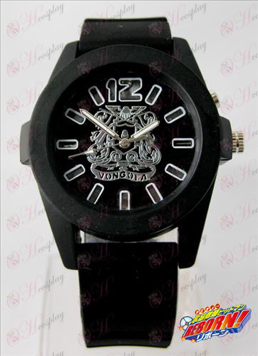 Reborn! Accessories colorful flashing lights Watch - Black