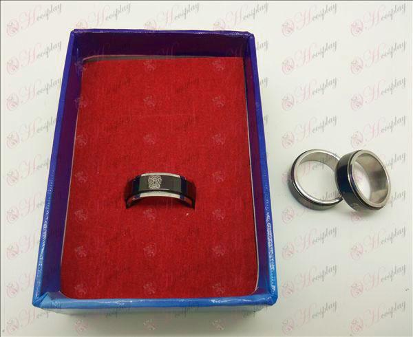 Tutoring black steel rotating ring