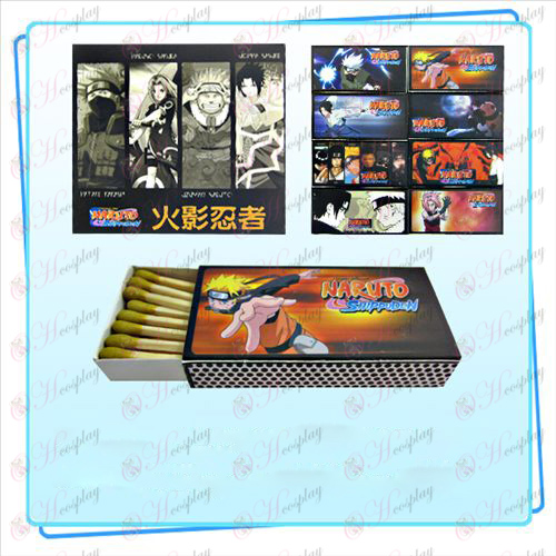 Packed Naruto matches (small box containing 8)