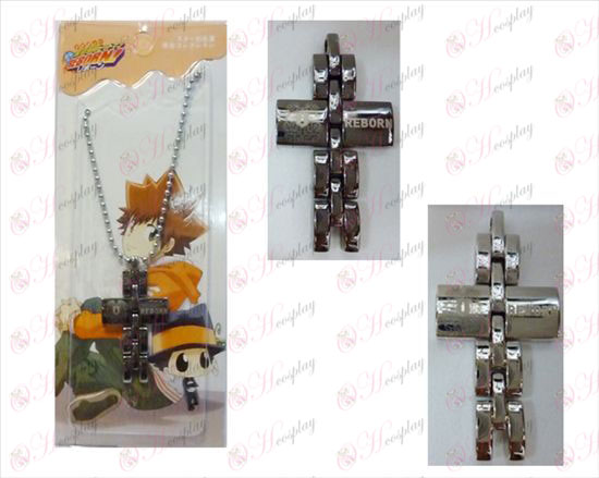 Reborn! Accessories black and white cross necklace