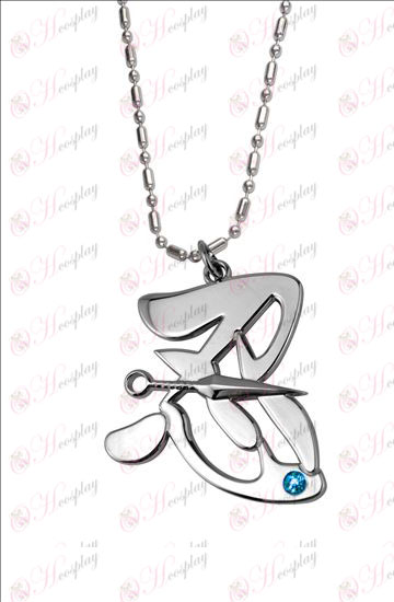 Naruto - word tolerance Blue Diamond Necklace